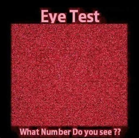 how do you a seeing eye eye test what number do you see how to