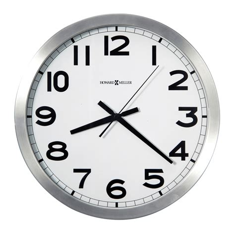 wall clock buy spokane brushed silvertone wall clock online purely