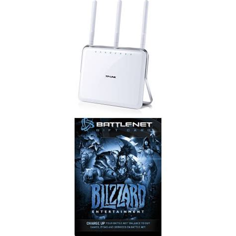 Battle Net Balance Gift Card - tp link ac1900 dual band wireless ac gigabit router and 20 battle net store gift card