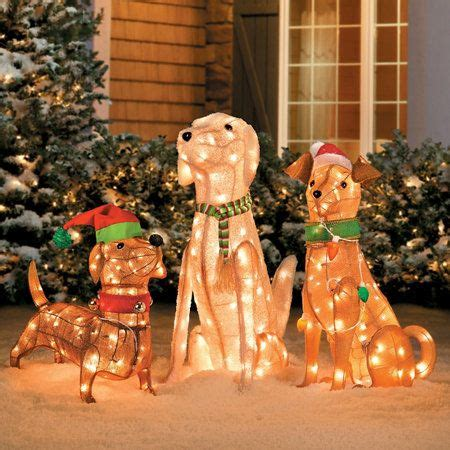 pre lit tinsel dog pre lit tinsel dogs decorations decor home dogs and