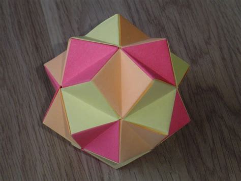 Origami Spiked Icosahedron - modular origami spiky balls and stellated polyhedra