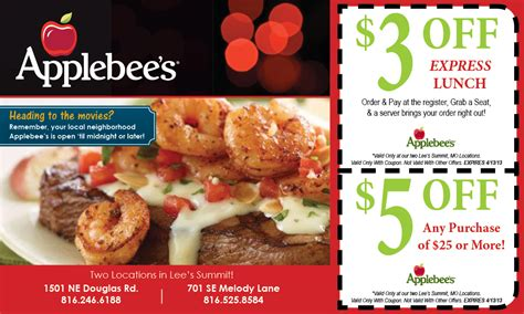 restaurant coupons for applebees