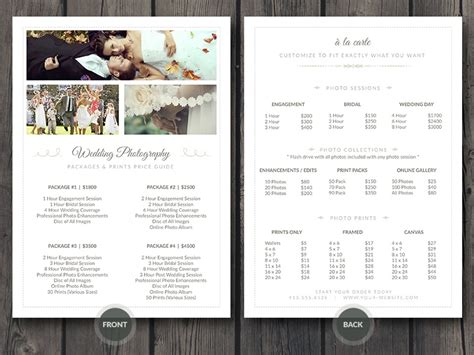 Free Photographer Business Card Photoshop Template V1 Cursive Q Bridal Guide Template For Photographers