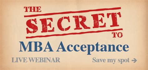 So You Got Your Mba Now What by For B School Acceptance Live Webinar