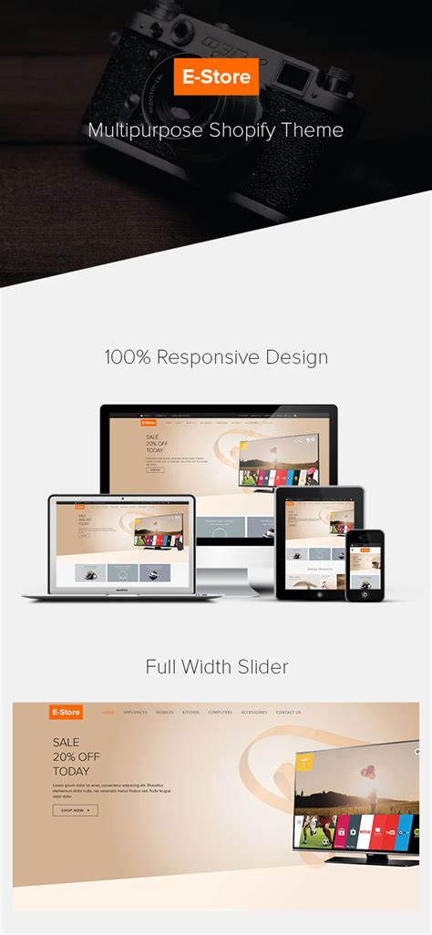 shopify themes nulled e store responsive shopify theme free nulled