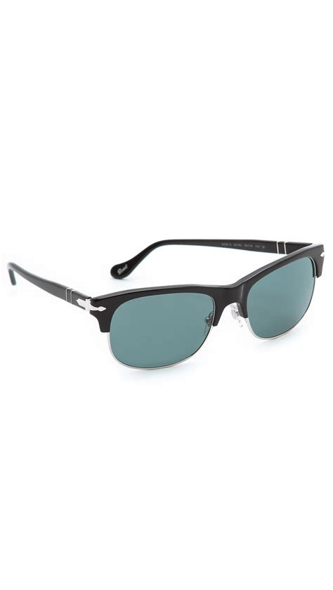 Persol Handmade Sunglasses - persol clubmaster polarized sunglasses in black for lyst