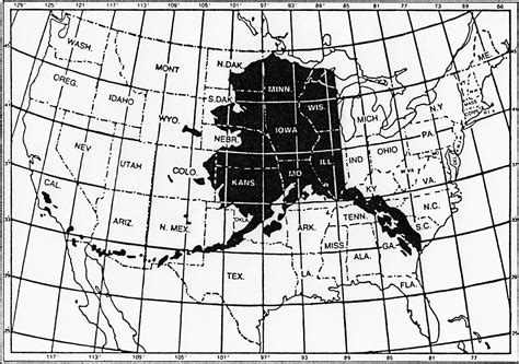 us map with alaska overlay sidekick tours alaska overlay on lower 48