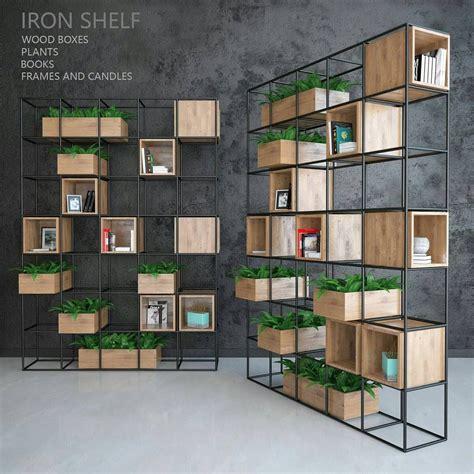 estante ferro e madeira estante em nichos de ferro e madeira pe 231 as design