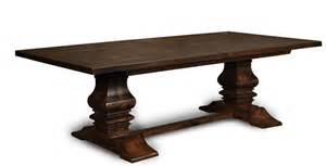 Farmhouse Trestle Dining Table Amish Plank Farmhouse Trestle Dining Table Rustic Country Estate Solid Wood 2 Quot Ebay