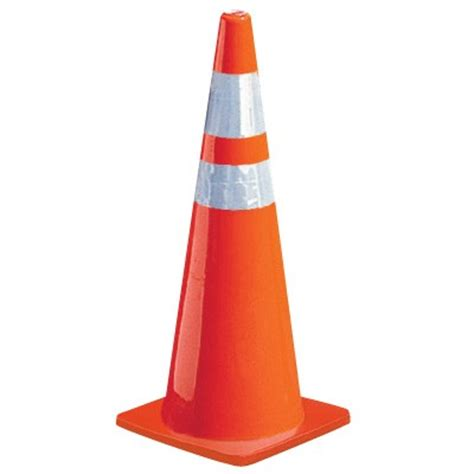 Traffic Cone Karet Safe Line 28 quot safety cone w reflective stripes
