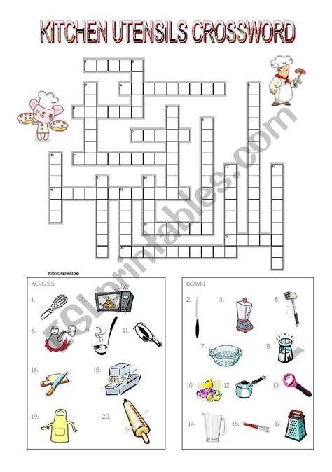 Kitchen Utensil Crossword by Kitchen Utensils Crossword Esl Worksheet By Mimika