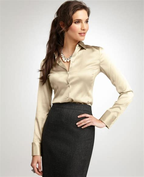 silk blouse and pencil skirt silk blouses