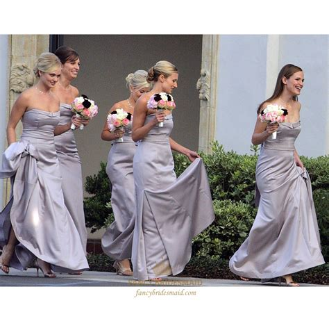 Strapless Bridesmaid Dress strapless satin mermaid bridesmaid dress with