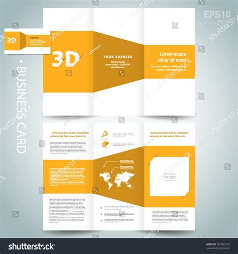 3d brochure template 3d dimensional design brochure template folder leaflet