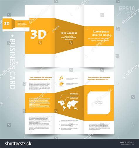 3d dimensional design brochure template folder leaflet