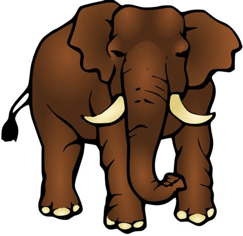 www large free large brown elephant clip art
