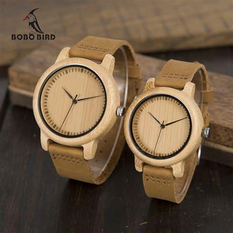 Jam Tangan Bobo Bird Le bobo bird jam tangan kayu analog pria wa15 brown