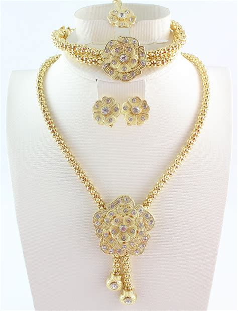 flower design gold necklace aliexpress com buy free shipping new design african gold