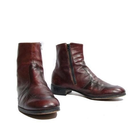 60 s 70 s vintage s ankle boots cordovan zipper beatle