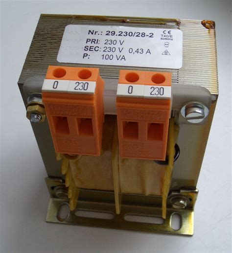 Trafo Ct 3 A isolation transformer
