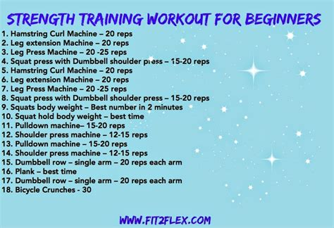 weight lifting workout routine for beginners sport fatare