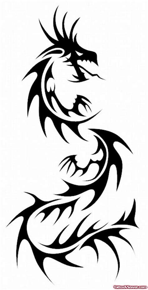 black tribal dragon tattoo design for guys tattoo viewer com