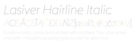 typography hairline lasiver hairline italic fonts