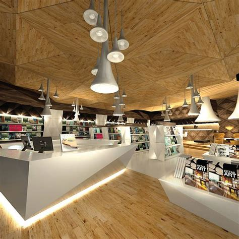 Retail Spaces Buku Interior the story unfolds is a creative retail space that allows customers to publish their own books
