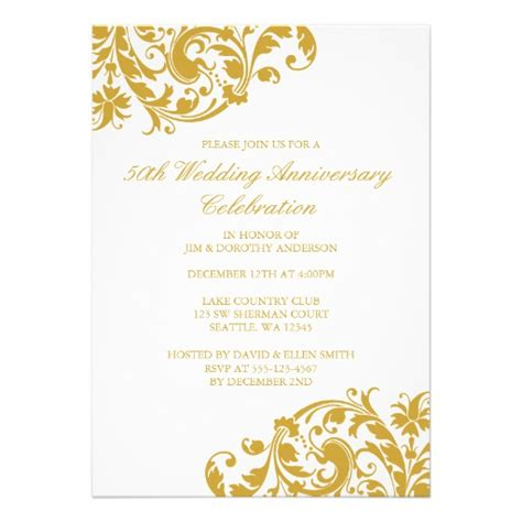 50th wedding anniversary templates wording exles for 50th wedding vows invitations