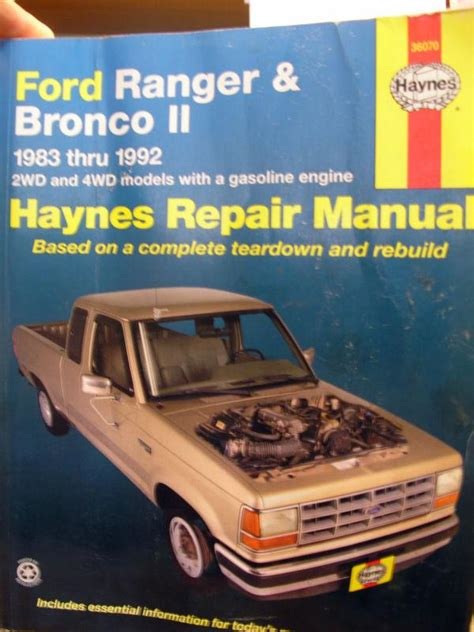 motor auto repair manual 1992 ford e series interior lighting purchase 1983 1992 ford ranger bronco ii repair manual 2 4wd gas haynes motorcycle in