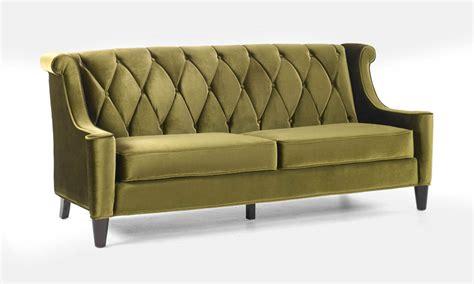modern green velvet sofa barrister retro sofa in mid century modern green velvet
