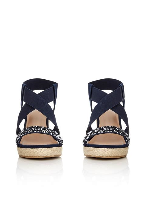Sandal Navy navy wedge sandal wallis
