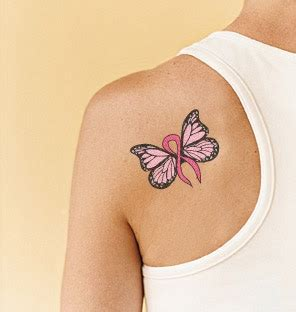 breast cancer butterfly tattoo butterflies butterfly cancer ribbon