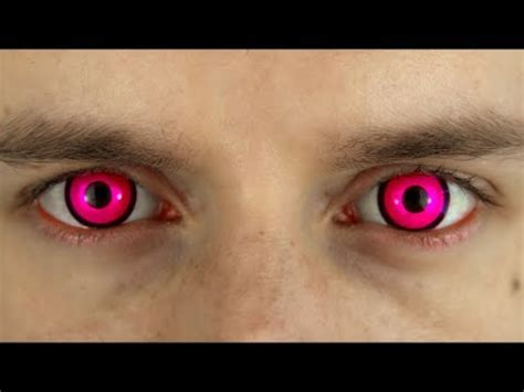 bright pink colored contact lenses | terror eyes | roly