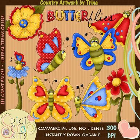 country clipart butterfly country clipart cliparts and printables