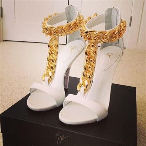 shoes heels high heels gold high heels white high
