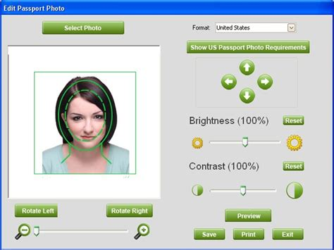 photo template software free passport photo software by digital album inc