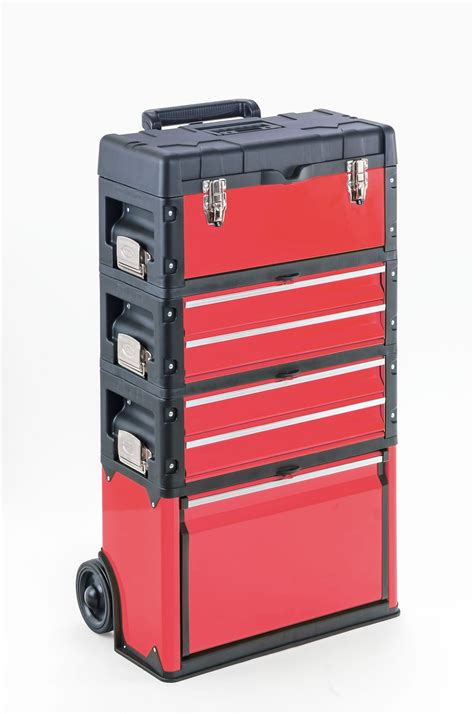 werkstatt trolley kunststoff metall trolley 4 module 2 x 2 schubladen 6