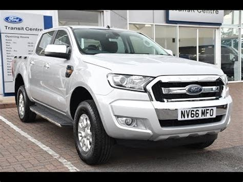 used ford ranger double cab xlt moondust silver 2017 youtube
