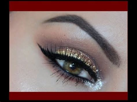 labios con glitter rojo brillantina youtube maquillaje dorado y plata con glitter brillo labios