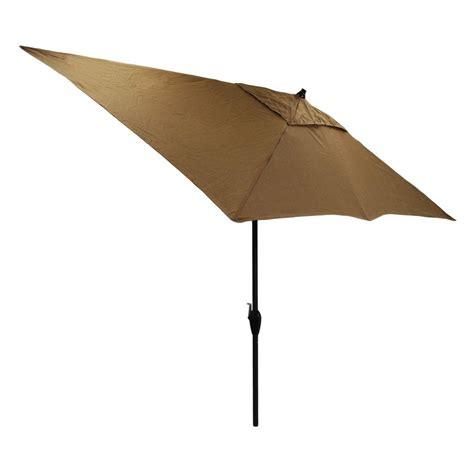 Rectangular Patio Umbrellas Hton Bay 10 Ft X 6 Ft Rectangular Aluminum Patio Market Umbrella In Bark Texture 9106