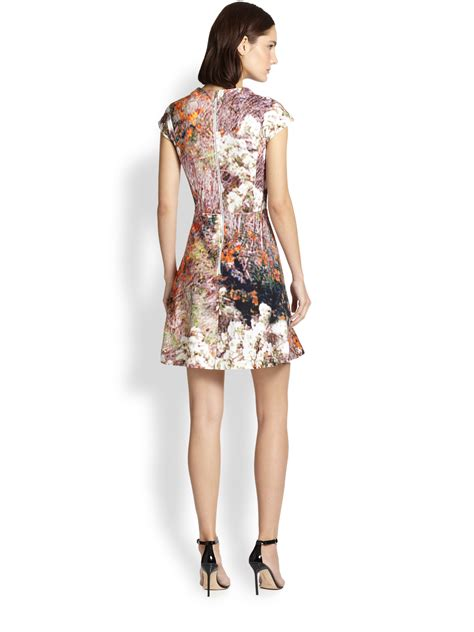 Abstract Flare Mini Dress lyst carven abstract print fit flare dress