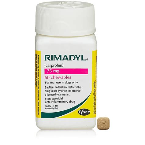 rimadyl 75 mg for dogs rimadyl 75mg chewable 60 tabs