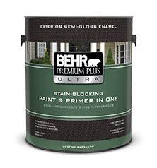 premium  ultra exterior flat paint primer behr