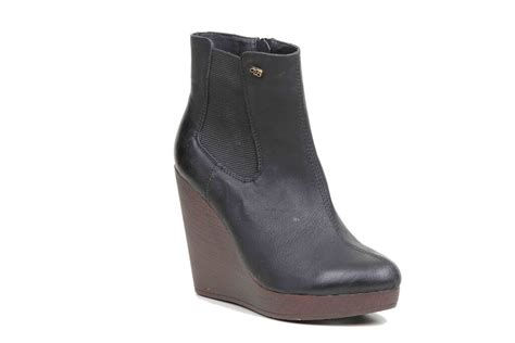 boots wedge boot miss black black sizes 3 4