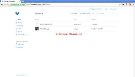dropbox installer install dropbox 3 14 5 desktop sync client on linux
