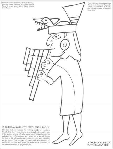 Aztec Mayan Coloring Pages Inca Coloring Pages