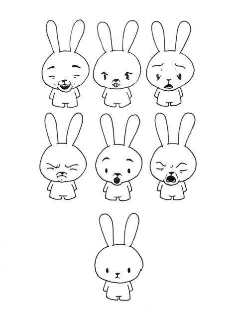 Bunny Expression bunny expressions by daskull on deviantart