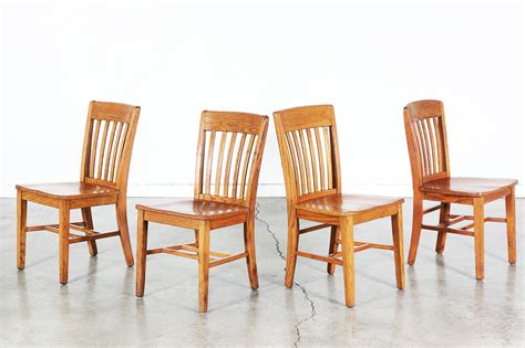 Oak Dining Chairs Antique Set Of 4 Antique Oak Dining Chairs Vintage Supply Store