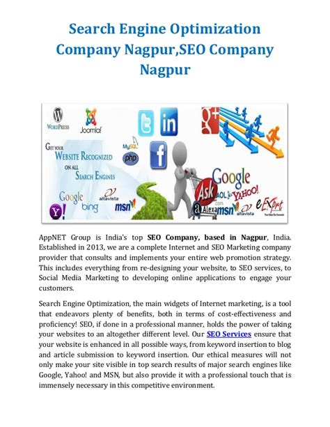 Search Optimization Companies by Search Engine Optimization Company Nagpur Seo Company